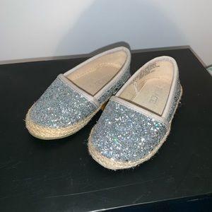 Girls Glitter Espadrille Flats